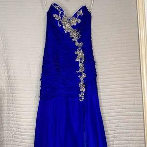 Women's Long Mermaid Royal Blue Dress